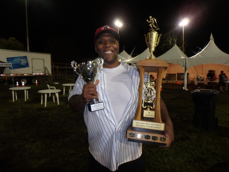 Kerwin Clarke, Pitcher for the B Division winners, The Incredibles.