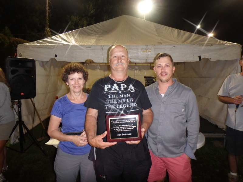 Jean Lefebvre recognized for his years of service for being an umpire in the tournament.